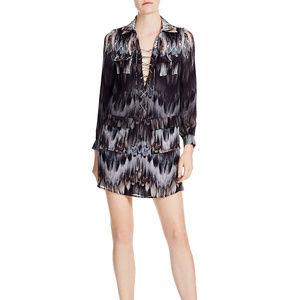 Haute Hippie Lace-Up Cargo Shirt Dress